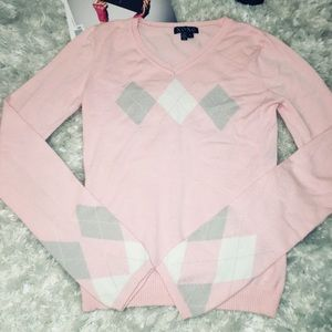 Preppy Knitted Pink Cardigan